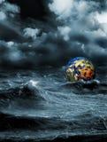 Storm. Grim fantastic landscape with a storm vector illustration