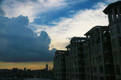 Before storm in guangzhou stock images