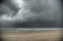 Storm HDR. A beach with lot wind in HDR view Stock Photo