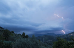 Storm - HDR. A view of storm in the umbria region - HDR royalty free stock images