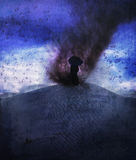 Storm herald. The herald of storm standing on the op of sand-dune royalty free stock images