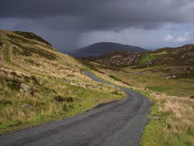 Storm on the Horizon. A storms comes through the Gap of Mamore in Co. Donegal, Ireland Royalty Free Stock Image