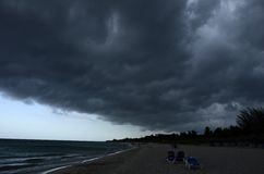 Storm. How loks the beach when the storm came stock image