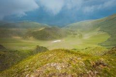 Storm i bergen Royaltyfria Bilder