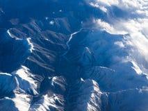 Storm i bergen arkivbilder