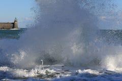 Storm i det medelhavs- Royaltyfri Fotografi