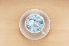Storm i en teacup royaltyfri bild