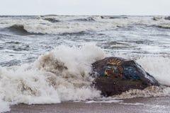 Storm i havet Royaltyfria Foton