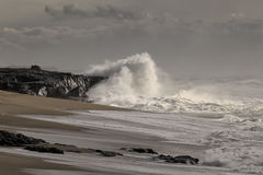 Storm i kusten arkivbilder