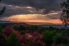 Storm i Provence, Frankrike Arkivfoton