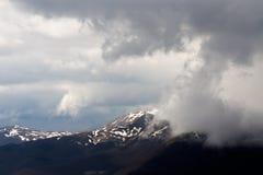 Storm i snön Arkivbild