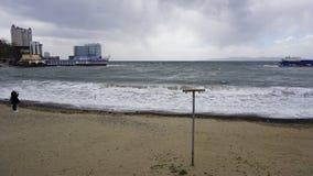 Storm i sporthamnen Royaltyfri Bild
