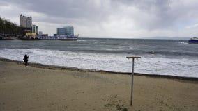 Storm i sporthamnen Arkivbild