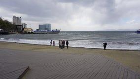 Storm i sporthamnen Arkivbilder
