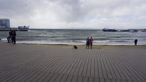 Storm i sporthamnen Fotografering för Bildbyråer