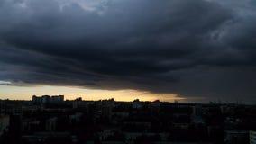 Storm i staden Royaltyfri Fotografi