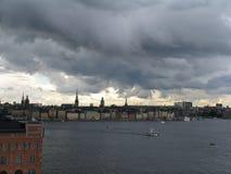 Storm i Stockholm royaltyfri foto