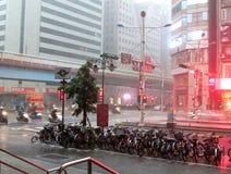 Storm i Taipei Arkivfoton