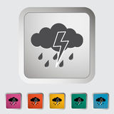 Storm icon. Stock Photo