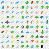100 storm icons set, isometric 3d style. 100 storm icons set in isometric 3d style for any design vector illustration Royalty Free Stock Image