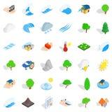 Storm icons set, isometric style. Storm icons set. Isometric style of 36 storm vector icons for web isolated on white background vector illustration