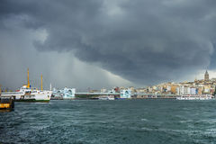 Storm on Istanbul Royalty Free Stock Images