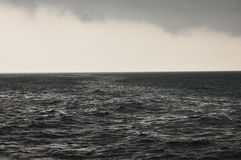 Storm on the Java sea. Indonesia. Heavy rain Stock Images