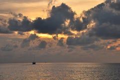 Storm on the Java sea. Indonesia. Heavy rain Royalty Free Stock Photos