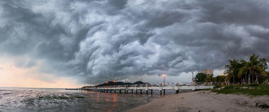 Storm in Jerejak Jetty, Penang Royalty Free Stock Image