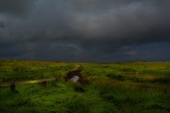 Storm komst Stock Foto's
