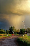 Storm komst Stock Fotografie