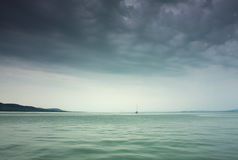 Storm on the lake Stock Photography