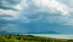 Storm at Lake Balaton Royalty Free Stock Image