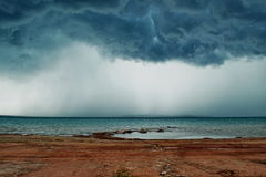 Storm on the lake Stock Images