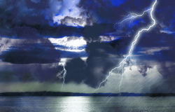 Storm on lake Stock Images