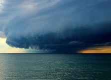 Storm on Lake Michigan Stock Image