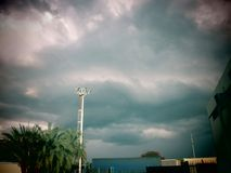 Storm on the lamppost Royalty Free Stock Photos
