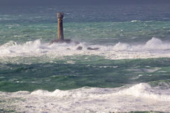 Storm at Lands End Cornwall England Stock Image