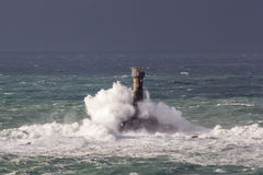Storm at Lands End Cornwall England Royalty Free Stock Image