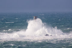 Storm at Lands End Cornwall England Royalty Free Stock Photography
