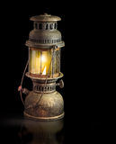 Storm lantern on black background Royalty Free Stock Photos