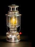 Storm lantern on black background Royalty Free Stock Image