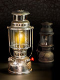 Storm lantern on dark background Royalty Free Stock Images