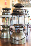 Storm lantern or paraffin lamp or hurricane lamp Royalty Free Stock Photography