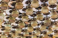 Storm lantern or paraffin lamp or hurricane lamp Stock Photo