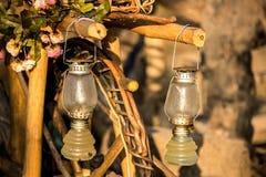 Storm lantern Stock Photo