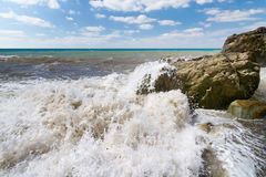 Storm large wave Stock Photography