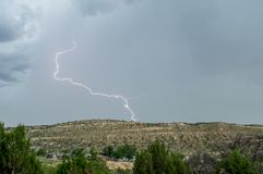 Storm and Lightening Strike Royalty Free Stock Photo