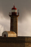 Storm in the lighthouse Stock Images