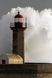 Storm in the lighthouse Royalty Free Stock Photos